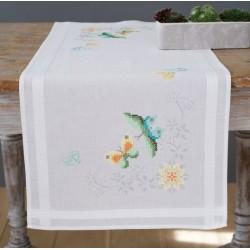 VERVACO  0157463  Chemin de table  Fleurs et papillons