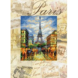 Riolis  kit Cities of the World, Paris   Riolis  PT0018   Broderie du monde