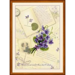 RIOLIS  0039PT  Lettres d'amour.  Violet