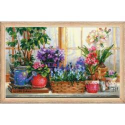RIOLIS  1669  Fenêtre avec fleurs