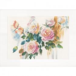 Lanarte | kit  Bouquet de roses roses  Lanarte  0151017 | Broderie du monde